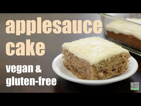 applesauce cake (vegan & gluten-free) Something Vegan