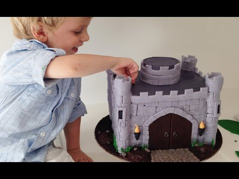 HOW TO MAKE A CASTLE CAKE How To Cook That Castle Cake and Dragon Tutorial