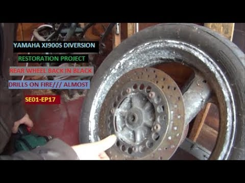 XJ900 DIVERSION REAR WHEEL TRANSFORMATION