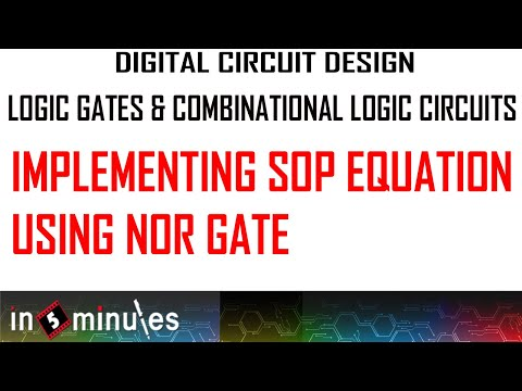 Implementing SOP equation using NOR gates