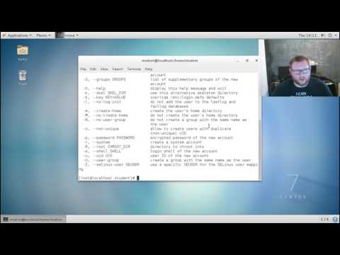 Modifying users, groups and permissions (Unix/Linux)