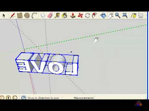 SketchUp - 3D spinning text using plugin 'Proper Animation'