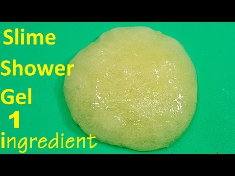 1 ingredient Slime ! How To Make Slime 1 ingredient With shower gel Easy