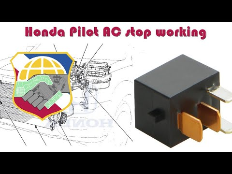 Honda Pilot AC stop working - How to troubleshoot HVAC compressor relay G8HL-H71 - Air condition