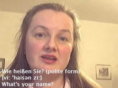 Say it in German 1: What's your name? - Learn German easily