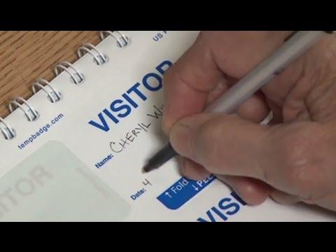 TEMPbadge Visitor Badge Log Book