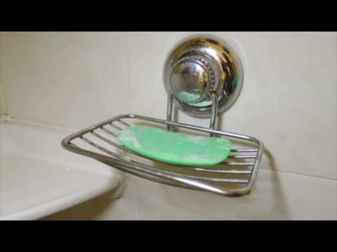 Gecko-Loc Vacuum Suction Cup Soap Dish Holder for Shower or Bath