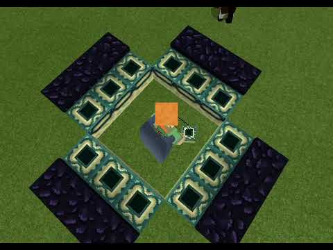 How to make End portal in Creative Mode