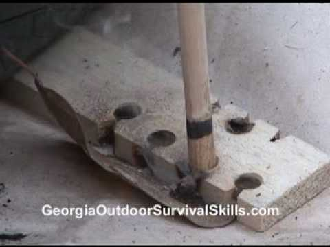 Hand Drill Friction Fire
