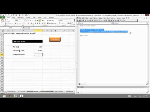 06 Excel Macro Calculate Sales Revenue for Branch A