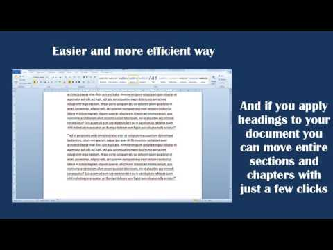 Easily move paragraphs and entire sections around in Word 2010 using the Outline view