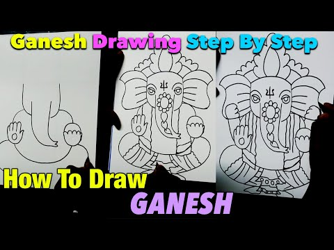 Easy Drawing  of Lord Ganesha