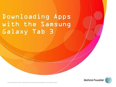 Samsung Galaxy Tab 3 : Downloading Apps