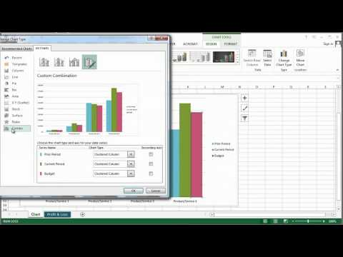 How to Overlap Two Different Types of Graphs in Excel : MS Excel Tips