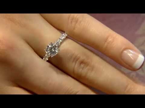 PR1031 1.40 Carat Round Cut Side Stone Engagement ring