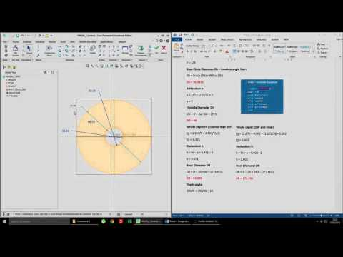 How to make an Involute Spur Gear (Equation Driven) in CREO - PRO/E Tutorial