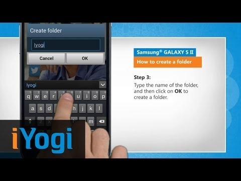 How to create a folder in Samsung® GALAXY S II