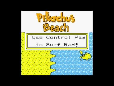 Pokemon Yellow: How to Teach Pikachu Surf Without GameShark + Beach Minigame 7511 High Score