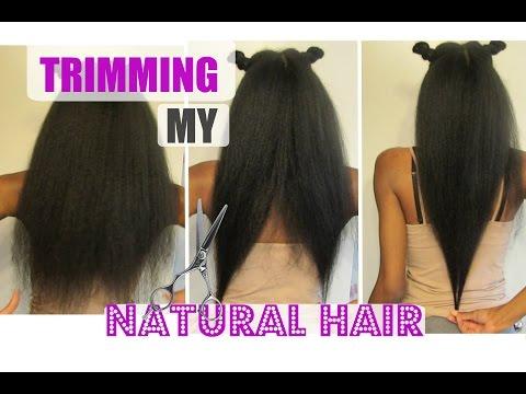 NATURAL HAIR| How I TRIM My Hair + When Should I Trim ?