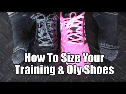 How To Size Your Training or Weightlifting Shoes!
