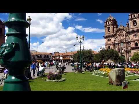 Backflip for a crowd in Plaza de Armas, Cuzco, Peru