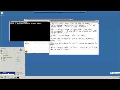 Symantec Endpoint Protection Manager SEPM Uninstall and Install Live Update