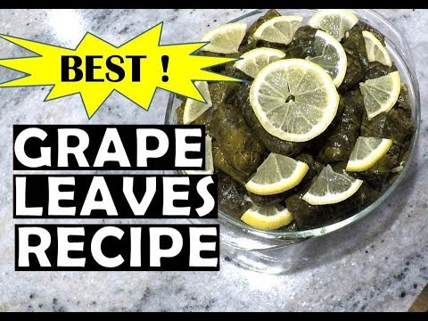 How To Make Greek Dolmades - Stuffed Grape Leaves