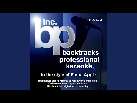 Across The Universe (Karaoke Instrumental Track) (In the Style of Fiona Apple)
