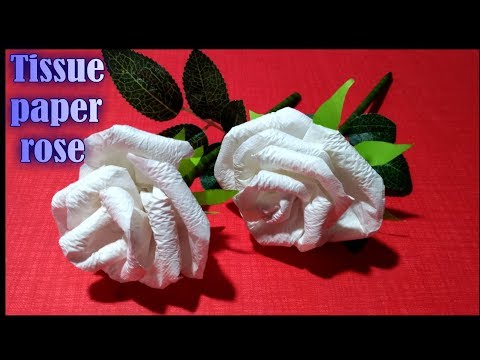 How to make tissue paper rose flower. How to make tissue paper rose flower step by step.
