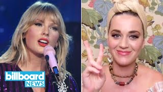 Will Taylor Swift & Katy Perry Collab? Post Malone Launches Coronavirus Gear | Billboard News