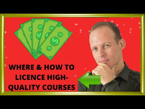 Where to license online courses or buy online courses or other content