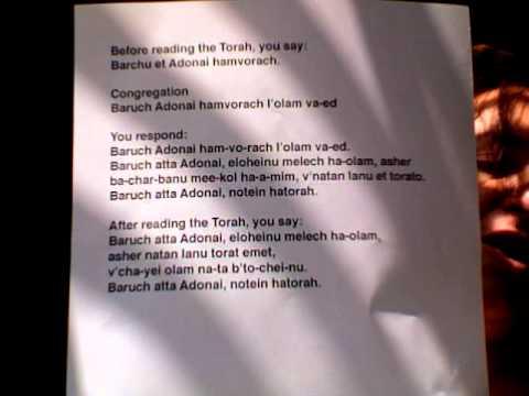Torah Blesssings for an Aliyah
