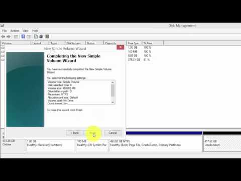 How to partition hard drive in Windows 8 or 8.1?