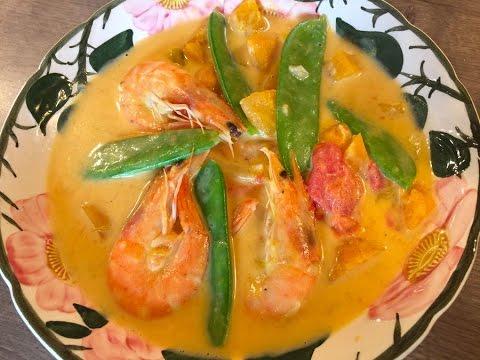 Squash and Shrimps in Coconut Milk (Ginataang Kalabasa)