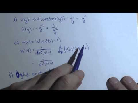 Derivative of Arctan and ln involving Product, Quotient, and Chain Rule A2 18def