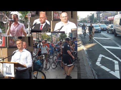 Bloor Street Bike Lanes Official Opening - Toronto