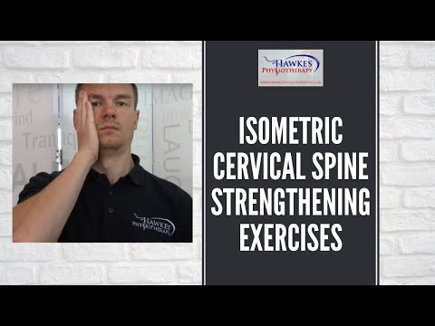 Isometric Cervical spine strengthening exercises: Basic neck strengthening exercises
