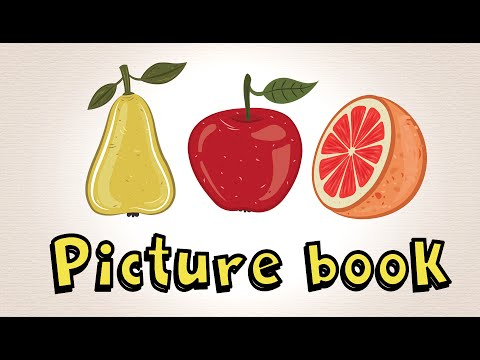 Picture Book With Fruit | Learn To Speak English For Kids