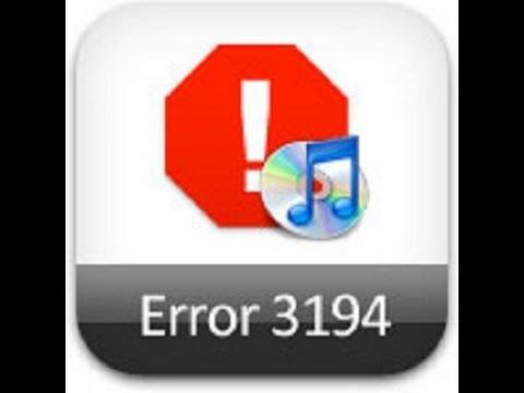 Easiest itunes Error 3194 Fix