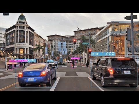 Self Driving Car Vision 4K - Rodeo Drive - Beverly Hills USA