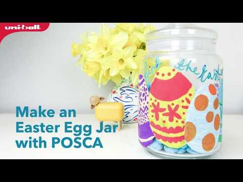 Posca Pen Easter Egg Design