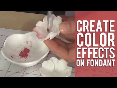 How to Use Pearl Dust & Color Dust on Fondant