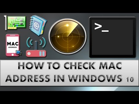 How to check Mac address in windows 10?