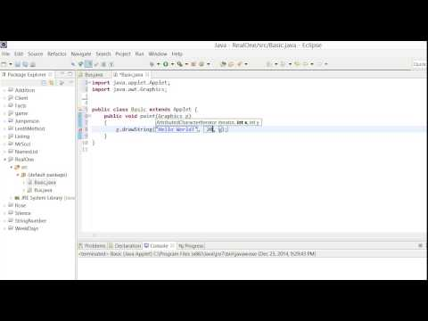 Basic Java - Hello World and Colors