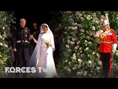 How The Military Stole The Show At Harry And Meghan's Royal Wedding | Forces TV