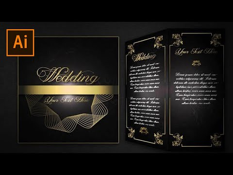 How To Make Simple And Elegant Wedding Invitations In Adobe Illustrator #FreeDownloads