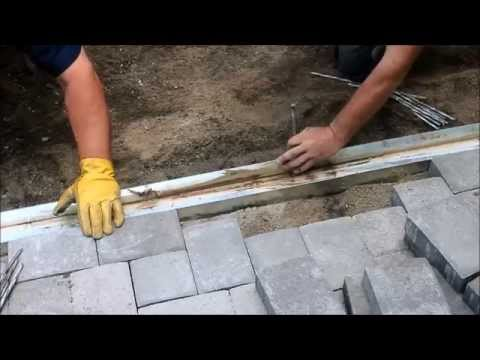 LTEC Trench Drain Installation in a Paving Stone Driveway