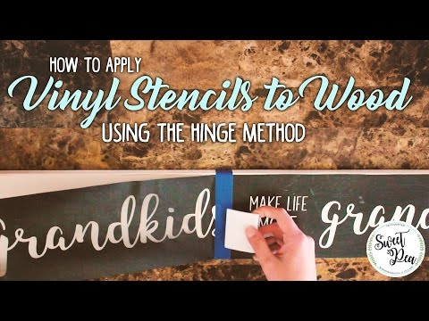 How to Apply Stencils to Wood and Keep It Lined Up