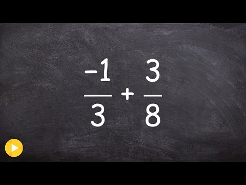 How to add a positive and negative fraction