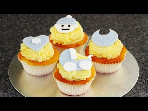 How to Make Cute Baby Cupcake Toppers - Baby Shower | HappyFoods